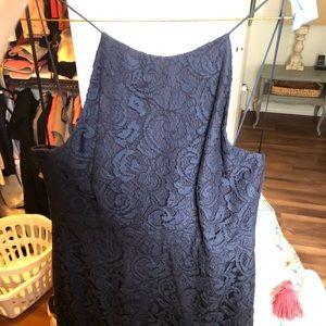 Navy lace Jcrew bridesmaid dress